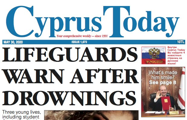 Cyprus Today 30 May 2020