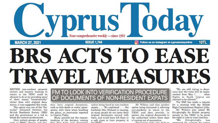 Cyprus Today 27 March 2021